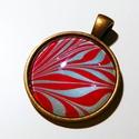 Menta-málna üveglencsés medál
