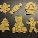Karácsonyi keksz, sütemény, mézeskalács kiszúró forma szett, Otthon & lakás, Ünnepi dekoráció, Dekoráció, Konyhafelszerelés, Karácsonyi kekszkiszúró szett 6 db-os: hógömb, karácsonyfa, mézi, szaloncukor, maci dobozzal, hópihe..., Meska