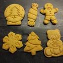 Karácsonyi keksz/mézeskalácskiszúró szett, Karácsonyi, adventi apróságok, Konyhafelszerelés, Mindenmás, Karácsonyi kekszkiszúró szett 6 db-os: hógömb, karácsonyfa, mézi, szaloncukor, maci dobozzal, hópihe..., Meska