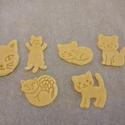 Cicás kekszkiszúró szett, Konyhafelszerelés, Mindenmás, 6 db-os cicás kekszkiszúró szett: alvó cica, ülő cica, álló cica, cicafej, gombolyaggal játszó cica,..., Meska