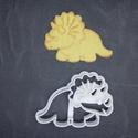 Dínó, dínós, triceratopsz keksz, süti. sütemény kiszúró forma, Otthon & lakás, Egyéb, Konyhafelszerelés, 3D nyomtatással készült triceratopszos (dínós) kekszkiszúró. Legnagyobb mérete kb 6cm. Személyes átv..., Meska
