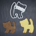 Cica, cicás (álló) keksz, sütemény kiszúró forma, Otthon & lakás, Egyéb, Konyhafelszerelés, 3D nyomtatással készült cicás kekszkiszúró. Legnagyobb mérete kb. 6 cm.  Személyes átvétel Martonvás..., Meska