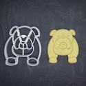 Kutya, kutyás (angol bulldog) keksz, sütemény kiszúró forma, Otthon & lakás, Egyéb, Konyhafelszerelés, 3D nyomtatással készült angol bulldogos (kutyás)  kekszkiszúró. Legnagyobb mérete kb. 6 cm.  Személy..., Meska