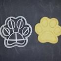Mancsos (kutya) kekszkiszúró, Konyhafelszerelés, Mindenmás, Mézeskalácssütés, Mindenmás, 3D nyomtatással készült mancsos (kutyás)  kekszkiszúró. Legnagyobb mérete kb. 6 cm.  Személyes átvé..., Meska