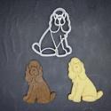 Kutya, kutyás (~spániel) keksz, sütemény kiszúró forma, Otthon & lakás, Egyéb, Konyhafelszerelés, 3D nyomtatással készült kutyás (spániel jellegű)  kekszkiszúró. Legnagyobb mérete kb. 6 cm.  Személy..., Meska