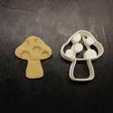 Gomba keksz, sütemény kiszúró forma, Otthon & lakás, Egyéb, Konyhafelszerelés, 3D nyomtatással készült gomba alakú kekszkiszúró. Legnagyobb mérete kb. 6 cm.  Személyes átvétel Mar..., Meska