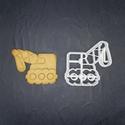 Daru keksz, sütemény kiszúró forma, Otthon & lakás, Egyéb, Konyhafelszerelés, 3D nyomtatással készült darus kekszkiszúró. Legnagyobb mérete kb 7 cm. Személyes átvétel Martonvásár..., Meska
