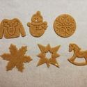 Karácsonyi mézeskalács-, keksz kiszúró forma, Otthon & lakás, Karácsony, Konyhafelszerelés, 3D nyomtatással készült 6 db-os kiszúró szett kekszhez, mézeskalácshoz, fondanthoz. Legnagyobb méret..., Meska