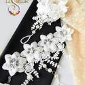 Csipkés, virágos lábékszer, CSipke virágokkal készült csodás lábékszer. ...