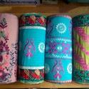 Hímzett hengerpárna készlet (4db), Dekoráció, Otthon, lakberendezés, Lakástextil, Párna, Eredeti, Indiából rendelt hímzésekből megalkotott párnák, csodaszép élénk színekkel, sok kézi öltéss..., Meska