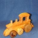 Fa verdák gőzmozdony, Baba-mama-gyerek, Játék, Gyerekszoba, Fajáték, Famegmunkálás, A verdák vontató kiegészítő darabja, mely önállóan is szerethető. Vontathat bármely, a traktoroknál..., Meska