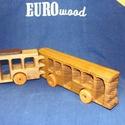 Fa verdák csuklós busz, Játék, Fajáték, Famegmunkálás, A fa verdák népszerű sorozat legújabb, városi vagány darabja. A tömegközlekedés modern , alacsony p..., Meska