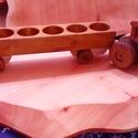 JD pálinkás traktor pótkocsikkal, Férfiaknak, Játék, Fajáték, A fa verdák sorozat népszerű, felnőttesebb megoldásai. Egyedi és mulatságos ötlet kultúrál..., Meska