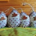 Filc tojás, Dekoráció, Húsvéti díszek, Dísz, Ünnepi dekoráció, Filc tojások tojásfára, díszítésre. Mérete: kb. 10 cm. 1 csomag 4 db. , Meska