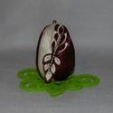 Húsvéti tojás dekoráció, Dekoráció, Ünnepi dekoráció, Húsvéti díszek, Mindenmás, Húsvéti asztali dekoráció. Hungarocell tojás alapon kanzashi technikával díszített virág. Filc virá..., Meska