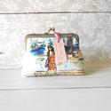 Irány Firenze - tárca, Táska, Pénztárca, tok, tárca, Pénztárca, Designer textilből készült tárca, 12 cm-es fémkerettel, fityegővel. A tárca közbéléssel me..., Meska