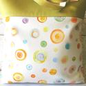 Fagyi- táska, Táska, Szatyor, Válltáska, oldaltáska, Minőségi pamutvászon és textilbőr kombinálásával készült táska. A táska bélésén egy b..., Meska