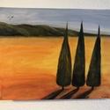 Toscana, Képzőművészet, Festmény, Akril, Festészet, A festmény 30 x 40 cm-es feszített vászonra készült, akril festékkel. Toscana színeit, hangulatát k..., Meska