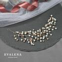 Fehér és pasztell színű fűzér / esküvői fejdísz, Esküvő, Hajdísz, ruhadísz, Ékszerkészítés, Gyöngyfűzés, Köszönöm a megtekintést :)  A képen fűzér látható a pasztell különböző árnyalataiban pompázik. Úgy ..., Meska