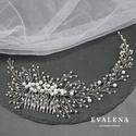 Asszimetrikus fésű swarovski kristályokkal , esküvői fejdísz, Esküvő, Hajdísz, ruhadísz, Ékszerkészítés, Gyöngyfűzés, Köszönöm a megtekintést :)  A képen egy nagyon különleges asszimetrikus fésű látható. Amikor elkezd..., Meska