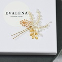 Menyasszonyi fejdísz hajtű arany levelekkel, Esküvő, Hajdísz, ruhadísz, Esküvői ékszer, Ékszerkészítés, Gyöngyfűzés, Köszönöm a megtekintést :)  A képen látható egy igazi különlegesség csiszolt gyöngyökkel és arany l..., Meska