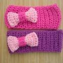 kislány, gyerek lila-rózsaszín horgolt hajpánt fejpánt fülmelegítő, Nagyon édes, kislányoknak szánt fülmelegítő,...