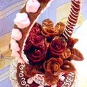 Grillázstorta, grillázs torta esküvőre, születésnapi, névnapi ajándék, Esküvő, Magyar motívumokkal, Nászajándék, Esküvői dekoráció, Vidéki, hagyományos édesség a grillázstorta, melyet esküvőre, születésnapra, évfordulókra, egyéb alk..., Meska