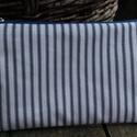 Neszesszer , Táska, Neszesszer, Kék  csíkos Annie Sloan textilből készült neszesszer , piros cipzárral a cipzár kocsin bőr r..., Meska