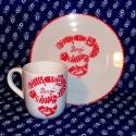 Népmesés reggeliző szett- pohár, tányér, A szett egy 2 dl-es bögrét és egy kistányért ...
