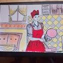 """""""Főzőcske"""" c. rajzom, Dekoráció, Otthon, lakberendezés, Képzőművészet, Fotó, grafika, rajz, illusztráció, Filctollal,színesceruzával rajzoltam ezt a képet. Vidám,sok színben pompázó,kellemes hangulatú """"kon..., Meska"""
