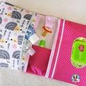 Új Design - XXL Pelenkatáska, Pelenkatartó táska, Baba-mama-gyerek, Baba-mama kellék, Varrás, Extra méretű minőségi designer textilből készült pelenkázó táska.  A popsitörlős rész cipzárral zár..., Meska