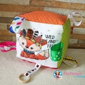 Babakocka csörgővel, Gyerek & játék, Játék, Készségfejlesztő játék, Varrás, Hímzés, Babakocka a legkisebbeknek. A termék minőségi pamutvászonból készült. A kocka éleibe különböző szín..., Meska
