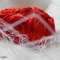 Piros menyasszonyi kalap, Esküvő, Hajdísz, ruhadísz, Piros menyasszonyi kalap  Ezt a gyönyörű kalapot gondos odafigyeléssel és minőségi alapanyago..., Meska