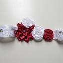 Burgundy piros menyasszonyi öv, Esküvő, Hajdísz, ruhadísz, Burgundy piros menyasszonyi öv  Eladó a képen látható öv.  Rózsákkal és csipkével díszít..., Meska