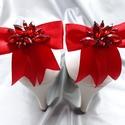 Piros cipőklipsz, Menyecske piros cipődísz, Esküvő, Cipő, cipőklipsz, Piros cipőklipsz  A cipőd ékszere lehet ez a bájos darab.  A cipőklipsz olyan, mint egy brosski..., Meska