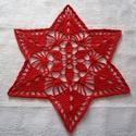 Karácsonyi csillag - horgolt terítő, Dekoráció, Otthon, lakberendezés, Lakástextil, Terítő, Horgolás, 100% pamut fonalból horgoltam ezt a csillag alakú terítőt, amely az ünnepi asztal gyönyörű dísze le..., Meska