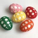 Horgolt húsvéti tojások 2., Dekoráció, Húsvéti díszek, Ünnepi dekoráció, Horgolás, Vidám húsvéti tojások az ünnepi asztalra, locsolóknak ajándékba vagy a barkafára. Könnyűek, nem tör..., Meska