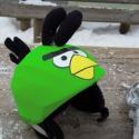 Lime Angry Birds sisakhuzat univerzális méretben, XS-XXXL bukósisakokra tervezve, Ruha, divat, cipő, Gyerekruha, Gyerek (4-10 év), Kendő, sál, sapka, kesztyű, ANGRY BIRDS sisakhuzattal igazán vagánnyá és különlegessé varázsolhatod bukósisakodat!  Rugalmas ela..., Meska
