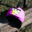 Pink Angry Birds sisakhuzat univerzális méretben, XS-XXXL bukósisakokra tervezve, Ruha, divat, cipő, Gyerekruha, Gyerek (4-10 év), Kendő, sál, sapka, kesztyű, ANGRY BIRDS sisakhuzattal igazán vagánnyá és különlegessé varázsolhatod bukósisakodat!  Rugalmas ela..., Meska