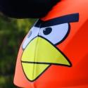 Narancs Angry Birds sisakhuzat univerzális méretben, XS-XXXL bukósisakokra tervezve, Ruha, divat, cipő, Gyerekruha, Gyerek (4-10 év), Kendő, sál, sapka, kesztyű, ANGRY BIRDS sisakhuzattal igazán vagánnyá és különlegessé varázsolhatod bukósisakodat!  Rugalmas ela..., Meska