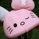 Hello Kitty, nyuszis sisakhuzat gyerekeknek, XS-M bukósisakokra tervezve, Ruha, divat, cipő, Gyerekruha, Gyerek (4-10 év), Kendő, sál, sapka, kesztyű, Varrás, HELLO KITTY (Nyuszi) sisakhuzattal vidámmá varázsolhatod gyermeked bukósisakját! Rugalmas elasztiku..., Meska