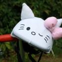 Hello Kitty, cicás sisakhuzat gyerekeknek, XS-M bukósisakokra tervezve, Ruha, divat, cipő, Gyerekruha, Gyerek (4-10 év), Kendő, sál, sapka, kesztyű, Varrás, HELLO KITTY (Cica) sisakhuzattal vidámmá varázsolhatod gyermeked bukósisakját! Rugalmas elasztikus ..., Meska