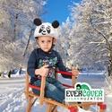 Panda sisakhuzat gyerekeknek, XS-M bukósisakokra tervezve, Ruha, divat, cipő, Gyerekruha, Gyerek (4-10 év), Kendő, sál, sapka, kesztyű, PANDÁS sisakhuzattal vidámmá varázsolhatod gyermeked bukósisakját! Rugalmas elasztikus anyagból kész..., Meska