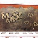Fali kulcstartó2, Otthon, lakberendezés, Dekoráció, Famegmunkálás, Saját készítésű rétegelt lemezből készült fali kulcstartó.Mérete 25*15 cm, Meska