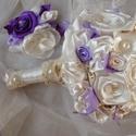 Bieder Lavender Menyasszonyi csokor, Esküvő, Esküvői csokor, Hajdísz, ruhadísz, Esküvői dekoráció, Virágkötés, Varrás, Megrendelésre készült,