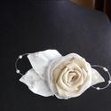 Pasztell rózsa hajdísz, Esküvő, Esküvői ékszer, Hajdísz, ruhadísz, Menyasszonyi ruha, Virágkötés, Varrás, A termék kiegészítője volt a