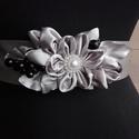 Fekete áfonyás ezüst öv, Szaténöv,melyet esküvőre,bálra,szalagavatóra...