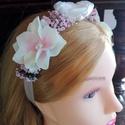 Rózsaszín Kert hajpánt esküvőre, Viselhető esküvőre vagy más alkalomra is. Róz...