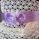 Esküvői,alkalmi öv boglárka virággal, Szaténból készült, esküvői vagy alkalmi öv....