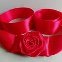Red Rose esküvői, menyecske öv, Szaténöv, esküvőre. Rendelésre készült term...